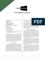 Sabre Holding - IDCH