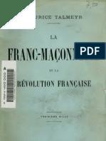 Talmeyr Maurice - La Franc-Maçonnerie et la Révolution française