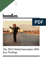 BoozCo the 2012 Global Innovation 1000 Media Report