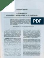 Luis Guillermo Coronado - Los Pitagoricos Matematica e Interpretacion de La Naturaleza