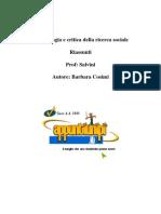 _f9016841_anteprima Metodologia e Critica Della Ricerca Sociale (Riassunti Barbara)