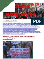Noticias Uruguayas Lunes 24 de Junio Del 2013