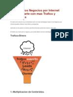 2 Tips en Los Negocios Por Internet Para Ayudarte Con Mas Trafico y Prospectos