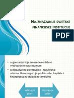 Najznačajnije svjetske financijske institucije