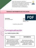 Técnicas e Instrumentod de Evaluación
