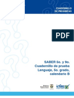 Prueba Saber Lenguaje 5 2009 Calendario b