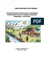 Municipalidad Distrital de Chiara Electrificacion Fotovoltaica