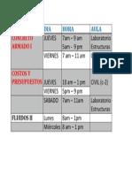 horario Ciclo 2013-0