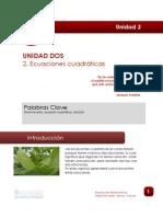 Lectura_ECUACIONES CUADRATICAS