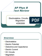 AP Physics B Review - Electromagnetism