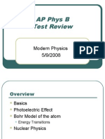 AP Physics B Review - Modern Physics