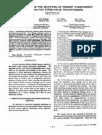 IEEE007 - Consideraciones en la selección de protección por sobrecorriente en transformadores
