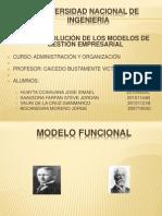 Evolución de los modelos de gestion- GRUPO 2
