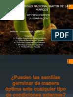 """Metodo cientifico """"La germinacion"""""""