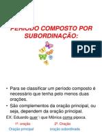 PERÍODO COMPOSTO POR SUBORDINAÇÇÃO