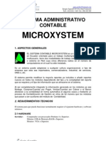 Caracteriscas Sistema Contable Microxystem.