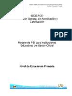 PEI  Establecimientos Educativos del Sector Oficial Nivel de Educación Primaria