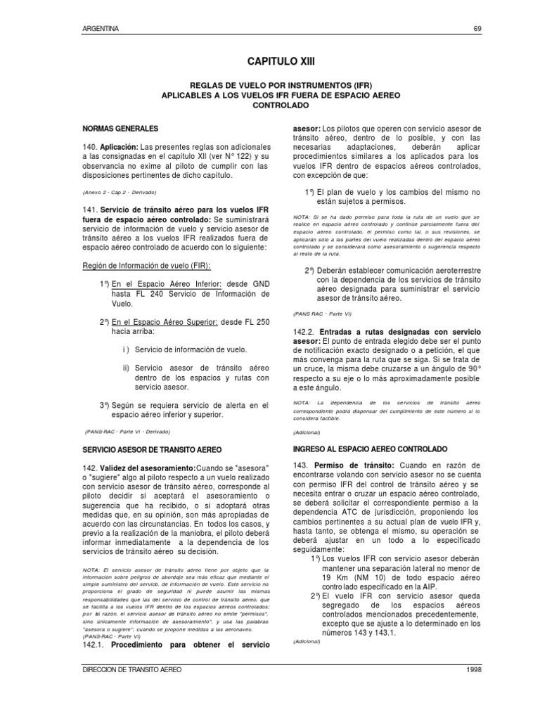 Reg Cap 11 Ifr No Controlado