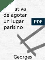 Perec, Georges - Tentativa de Agotar Un Lugar Parisino [PDF]