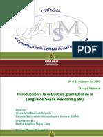 LA GRAMÁTICA DE LA LSM. DESTACADO