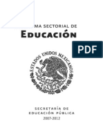Programa Sectorial de Educacion- Mexico