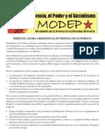 Comunicado Modep Barranca Ferticol