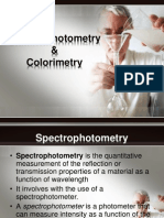 Spectrophotometry and Colorimetry