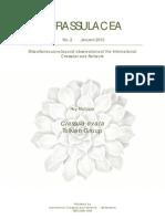Crassulacea No. 2 - Jan. 2013 - Crassula Ovata Tolkien Group