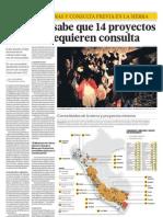 05052013 - El Comercio - Proyectos Mineros y Consulta