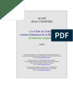 Alain - Le Culte de La Raison Comme Fondement (1901)