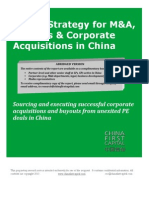 New Strategy for M&A, Strategic Acquisitions & Buyouts in China, China First Capital research report
