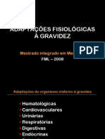 ADAPTAÇÕES FISIOLÓGICAS À GRAVIDEZ