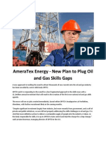 AmeraTex Energy - New Plan to Plug Oil and Gas Skills Gaps