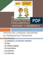 Motivos de Consultas Mas Frecuentes en Varones y Hembras, 2