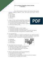Evaluación Nº1 Historia Geografía y CS para 4 Básico (f)