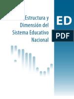 Estructura y dimensión del Sistema Educativo Nacional