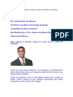 Nota de Esclarecimento Sobre o Caso Da Globo e o Pastor Marcos Pereira