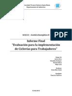 Estudio sobre la implementación de Ciclovias en Santiago
