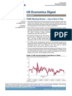 """Credit Suisse US Economics Digest - FOMC Meeting Review – """"July is Now in Play"""", June 19, 2013"""