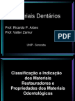 • Classificação e Indicação dos materiais restauradores •
