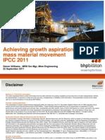 Achieving growth aspirations through mass material movement IPCC 2011