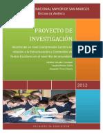 Proyecto de Investigacion - Comprension Lectora y Textos Escolares