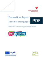 Evaluation Report a Selection of Language Tools