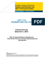 LEGT1710 Business and the Law Sem1 2013(1)