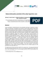 W5-3 CBIR PAP Natural Attenuation Potential of the Urban Hyporheic Zone