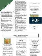 Kansans Against Common Core Brochure