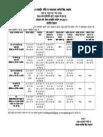BE Short Schedule for Publication 2