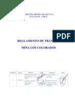 Reglamento Transito Mina Los Colorados