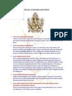 Special Ganesha Mantras