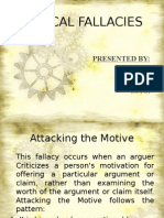logical fallacy-attacking the motive